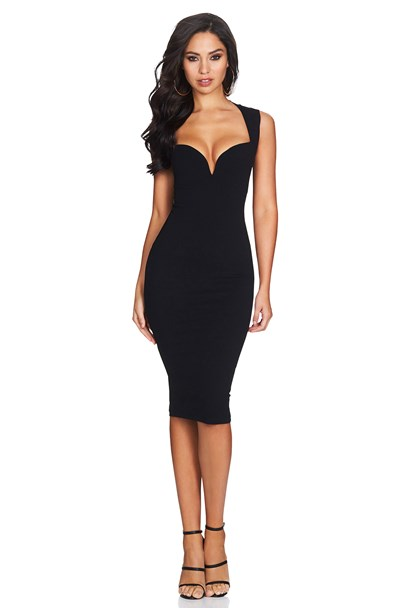 Black Madonna Midi  : Buy Designer Dresses Online at Nookie