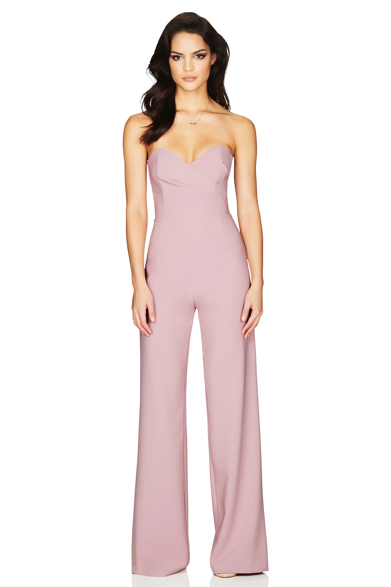 3f0f67a6b8d5 Dusty Pink Bisous Jumpsuit   Buy Designer Dresses Online at Nookie