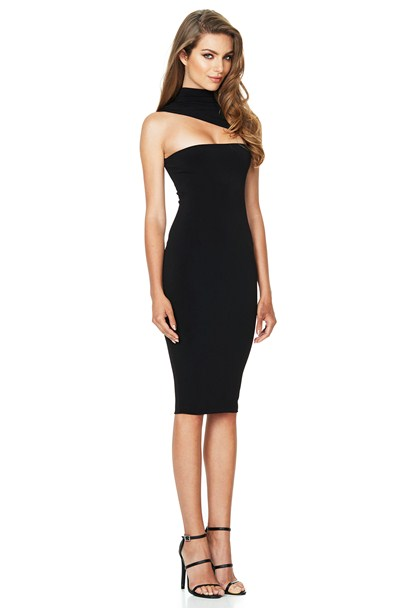 CHARLIZE HIGH NECK MIDI : Buy on Sale Now