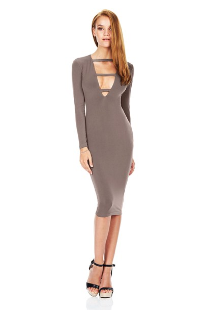 buy the latest Harlow Long Sleeve Plunge Dress online