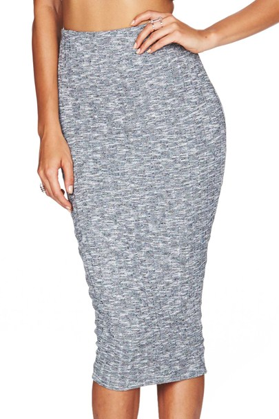 Light Grey Moonshine Pencil Skirt : Buy on Sale Now