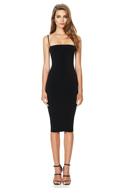 Charlize Midi Dress in Black. - size M (also in S,XS) Nookie