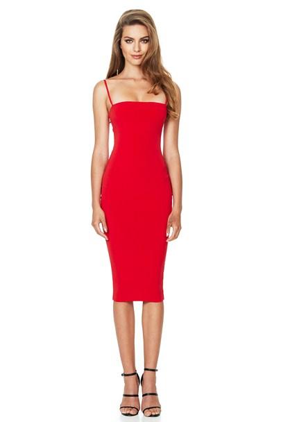 CHARLIZE STRAP MIDI : Buy Designer Dresses Online at Nookie