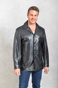 buy the latest Classic Single Breasted Italian Leather Jacket online