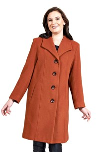 buy the latest 7/8 Jacket Square Collar Slight A-Line.  Average It.  Fully Lined. online