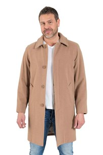 buy the latest Knee Length Car Coat Concealed Buttons To Neck online
