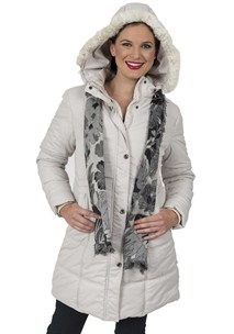 buy the latest Padded Parka Detachable Hood With Fur Trim online