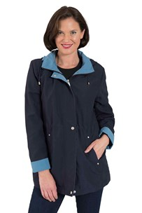 buy the latest Shower Proof Microfibre Jacket With Detachable Hood And Drawstring In Three Contrasting Colours online