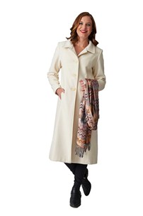 buy the latest 7/8 Fitted Coat With 2 Way Collar Vent At Back online