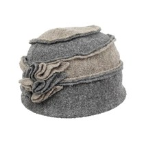 buy the latest Wool Hat - 2 Tone Inverted Seams Ruffled Flower online