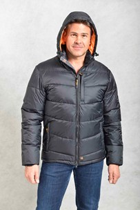 buy the latest Mens Padded Parka With Detachable Hood online