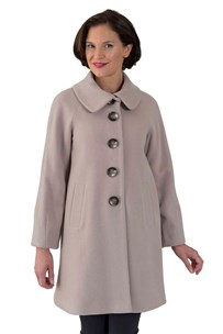 buy the latest 3/4 Single Breasted Raglan Sleeve Swing Coat With Tuck Features On Sleeves.  Fully Lined online
