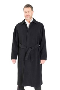 buy the latest Single Breasted Long Belted Coat With Concealed Buttons To Neck online