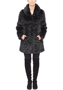buy the latest Faux Fur Jacket With Shawl Collar online