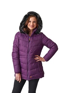buy the latest Ladies Padded Parka With Detachable Hood online
