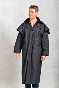 buy the latest Oilskin Stockman's Coat With Concealed Hood online