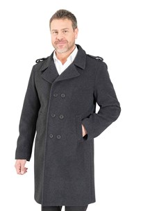 buy the latest Double Breasted 7/8 Military Coat With Epaulets On Shoulder And Tab On Sleeve.  Fully Lined online
