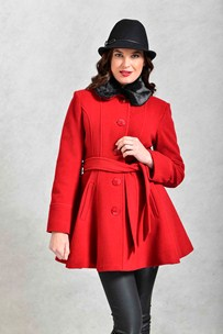 buy the latest Sb Fitted Belted Jacket With Flaired Waist And Detachable Collar online