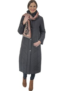 buy the latest Full Length Puffer Coat With Concealed Hood online