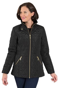 buy the latest Short Quilted Jacket With Faux Fur Trim  Rrp $199 online