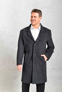 buy the latest Knee Length Classic Coat With Breast Pocket online