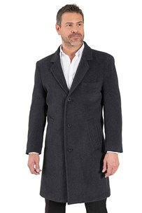 buy the latest Knee Length Classic Coat, Buttons To Neck, Or Open To Revere, With Breast Pocket.  Fully Lined online