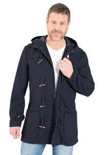 buy the latest London Fog Wool Blend Imported Duffle Coat With Zip And Toggle Closure online