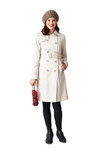 buy the latest Double Breasted Belted Trench, Australian Made Teflon Treated online