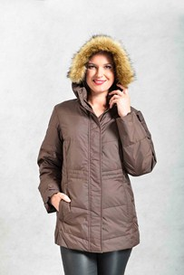 buy the latest Ladies Longwood 100% Nylon, Down Like Poly-Fill Storm Flap Jacket With 2 Way Zipper online