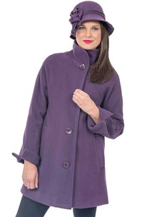 buy the latest Raglan Sleeve Coat With Fold Back Collar And Fold Back Sleeves online
