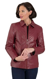 buy the latest 123 Zip Front Soft Leather Jacket online
