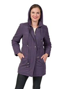 buy the latest Fly Front Padded Jacket With Detachable Hood online