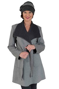 buy the latest Two Tone Wool Blend Wrap  Rrp $299 online