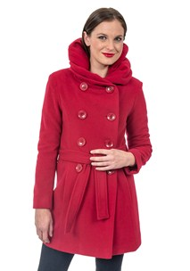 buy the latest Db Belted Coat With Shawl Collar That Turns Into Hood online