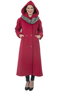 buy the latest Raglan Sleeve Hooded Long Swing Coat online