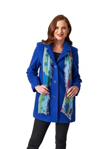 buy the latest Classic Singl Breasted 3/4 Jacket With Smaller Shoulder Fitting.  Average Fit.  Fully Lined online