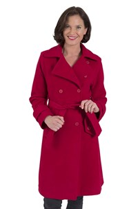 buy the latest 7/8 Length Belted Trench Coat. Collar Closes At Top Or Opens To Revere.  Fitted Style.  Fully Lined. online