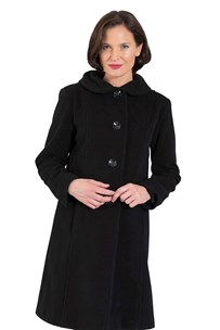 buy the latest 7/8 Coat Rounded Puckered Collar online