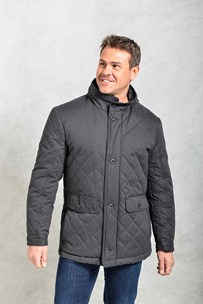 buy the latest Gravesendmens Quilted Parka With Concealed Hood online