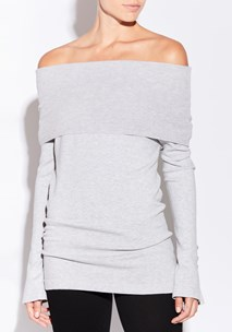 buy the latest Trace Off Shoulder Knit  online