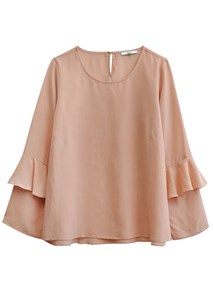buy the latest Marina Silk Frill Blouse online