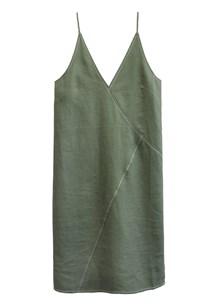 buy the latest Line Linen Slip Dress online
