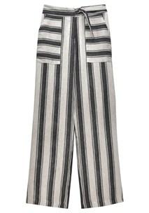 buy the latest Canvas Stripe Linen Pant online
