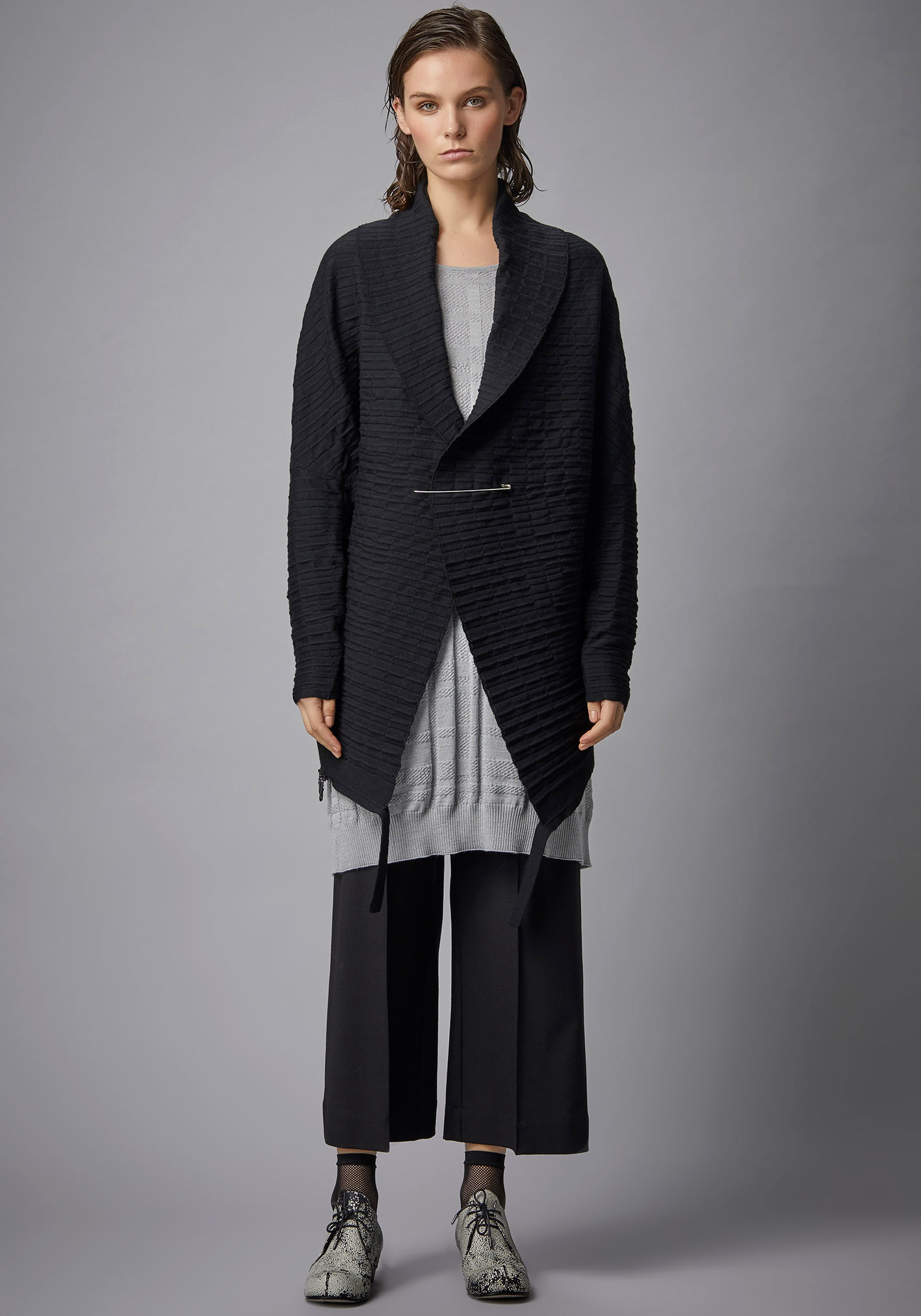 buy the latest 2 Way Pleat Zip Cardigan online