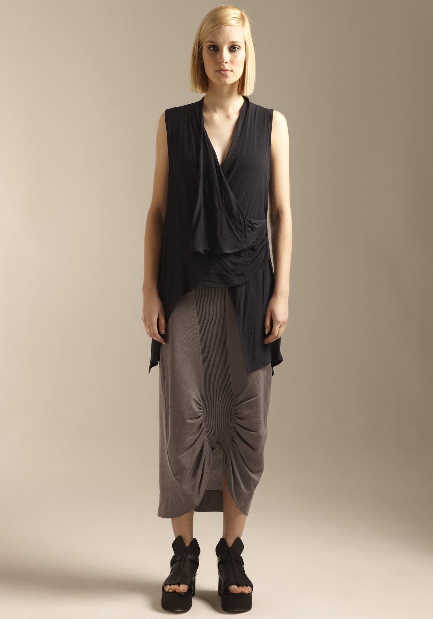 buy the latest Tails Drape Front Top online